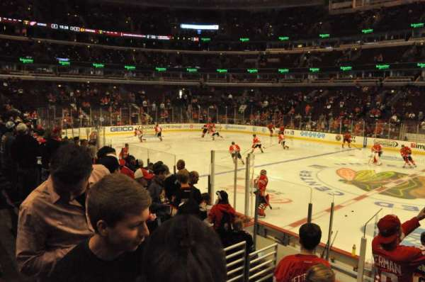 United Center, section: 122, row: 9, seat: 7