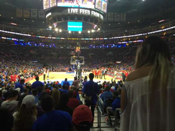 Staples Center, section: 107, row: 5, seat: 1