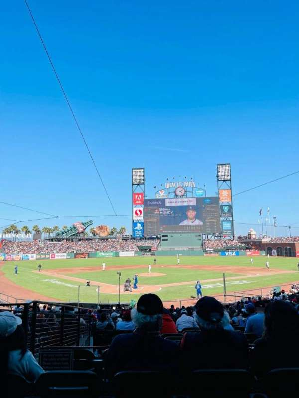 Oracle Park, section: 114, row: 26, seat: 9
