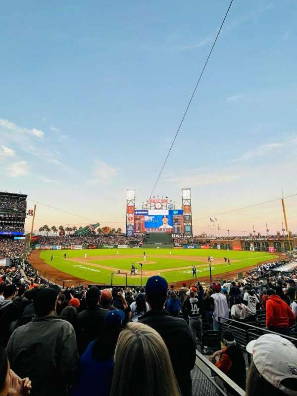 Oracle Park, section: 115, row: 25, seat: 2