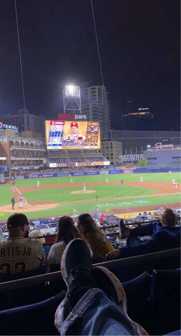 PETCO Park, section: K, row: 8, seat: 1