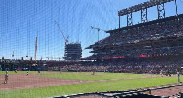 Oracle Park, section: 125, row: 3, seat: 10