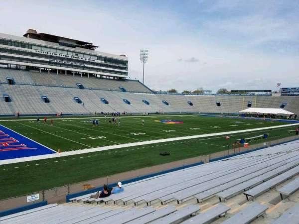 David Booth Kansas Memorial Stadium, section: 25, row: 19, seat: 8