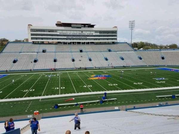 David Booth Kansas Memorial Stadium, section: 22, row: 30, seat: 25