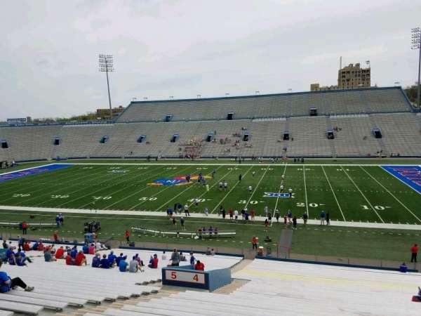 David Booth Kansas Memorial Stadium, section: 4, row: 42, seat: 23