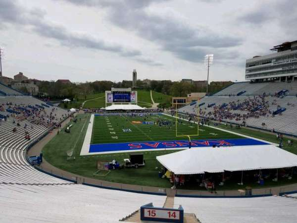 University of Kansas Memorial Stadium, section: 14, row: 42, seat: 2