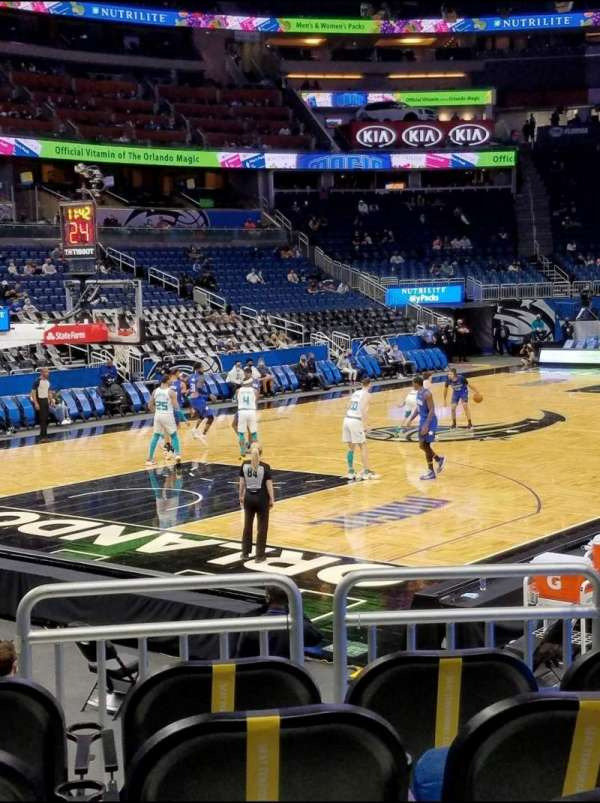 Amway Center, section: 118, row: 8, seat: 5