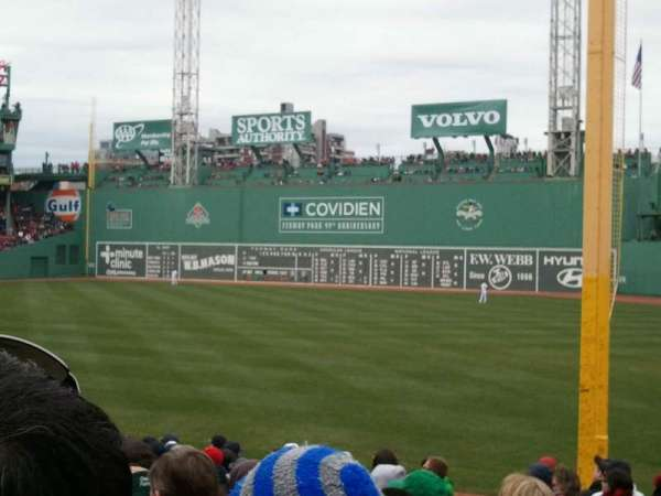 Fenway Park, section: Right Field Box 8, row: Nn, seat: 10