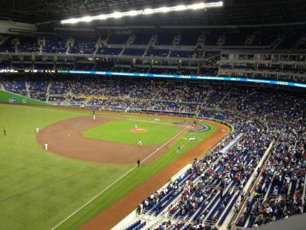Marlins Park, section: 327, row: A, seat: 1