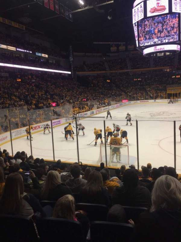 Bridgestone Arena, section: 101, row: MM, seat: 9