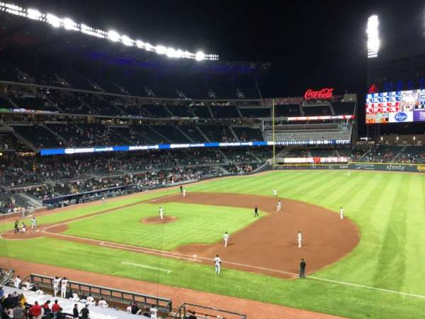 SunTrust Park, section: 313, row: 1, seat: 9