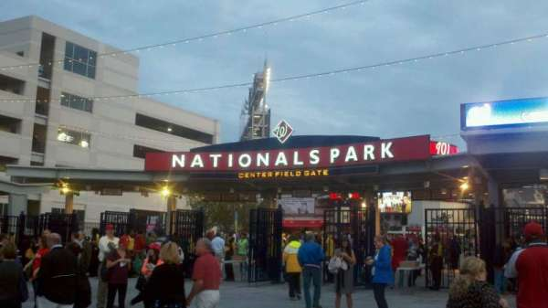 Nationals Park, section: Center Field Gate