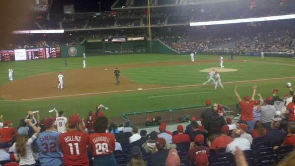 Nationals Park, section: 115, row: v, seat: 13