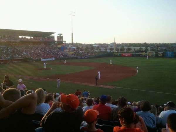 Hammons Field, section: B, row: 23, seat: 8