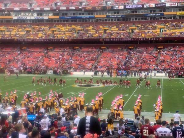 FedEx Field, section: 120, row: 20, seat: 18