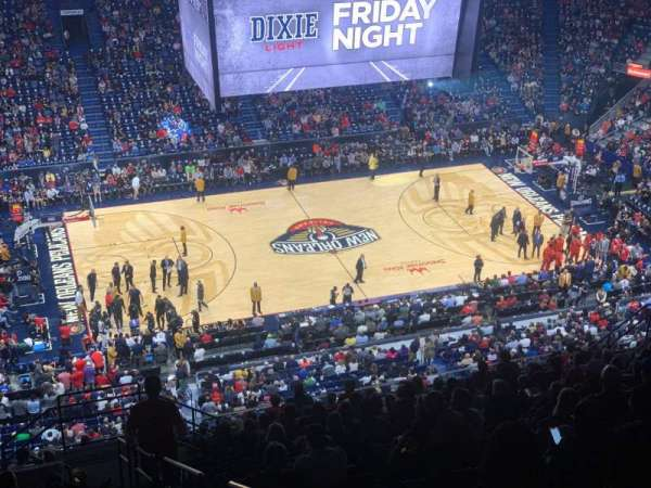 Smoothie King Center, section: 318, row: 20, seat: 8