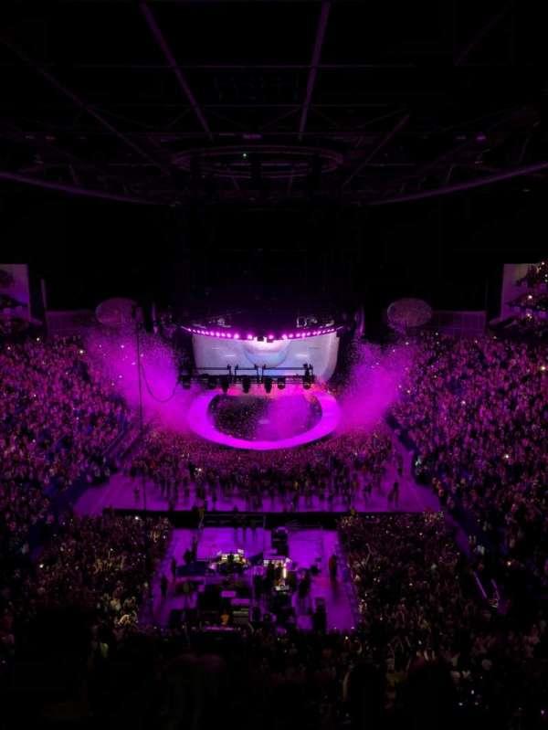 The O2 Arena, section: 412, row: E, seat: 723