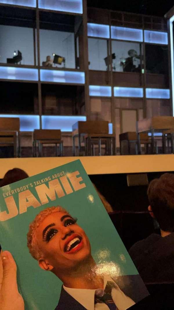 Apollo Theatre, section: Stalls, row: E, seat: 4