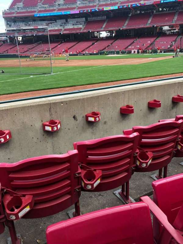 Great American Ball Park, section: 112, row: C, seat: 8