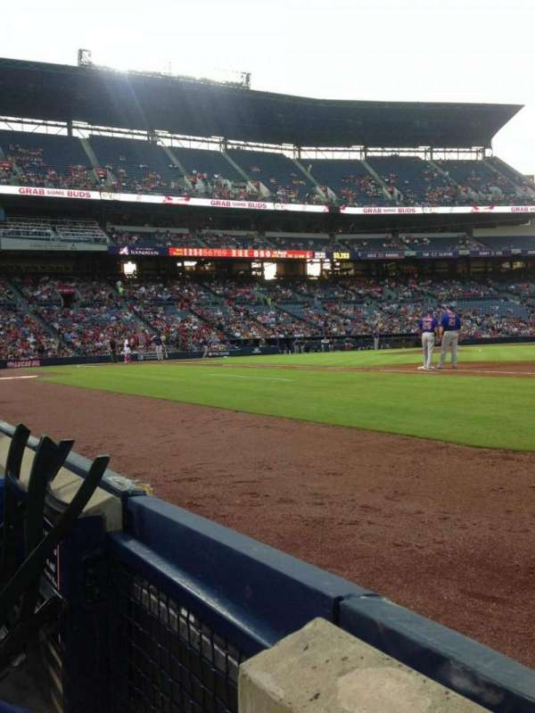 Turner Field, section: 117, row: 1, seat: 1