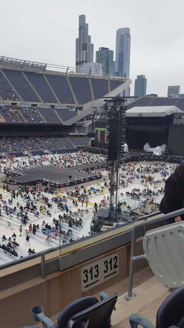 Soldier Field, section: 313, row: 3, seat: 14
