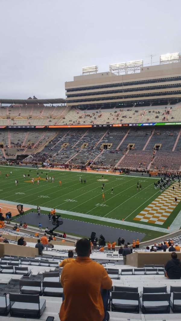 Neyland Stadium, section: Q, row: 54, seat: 23