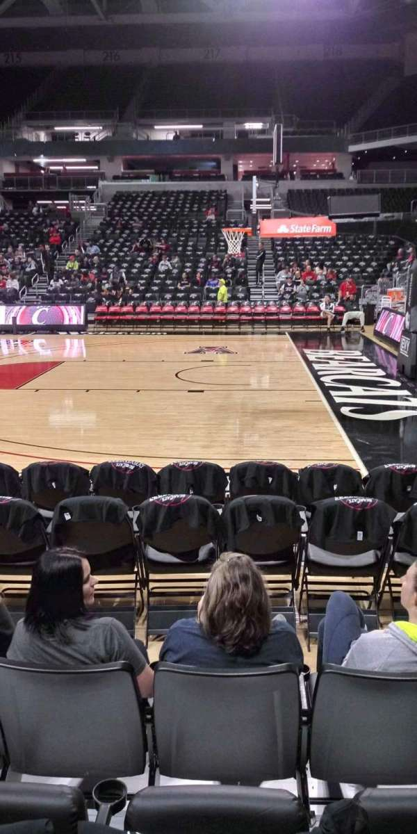 Fifth Third Arena, section: 103, row: 4, seat: 3