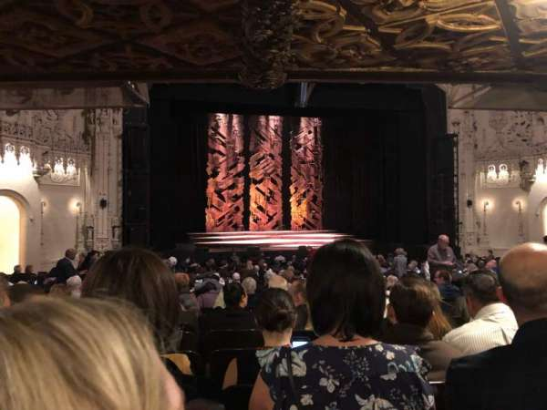 Orpheum Theatre (San Francisco), section: Orchestra LC, row: AA, seat: 117