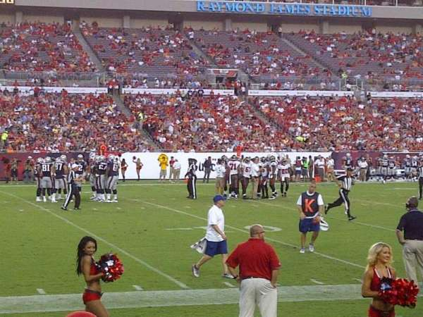 Raymond James Stadium, section: 107, row: D, seat: 8