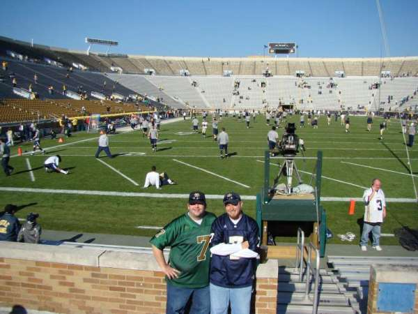Notre Dame Stadium, section: 19, row: 5, seat: 1