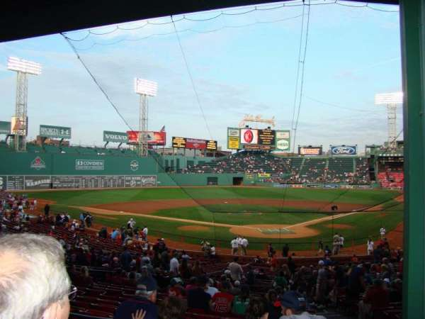 Fenway Park, section: Grandstand 22, row: 2, seat: 4