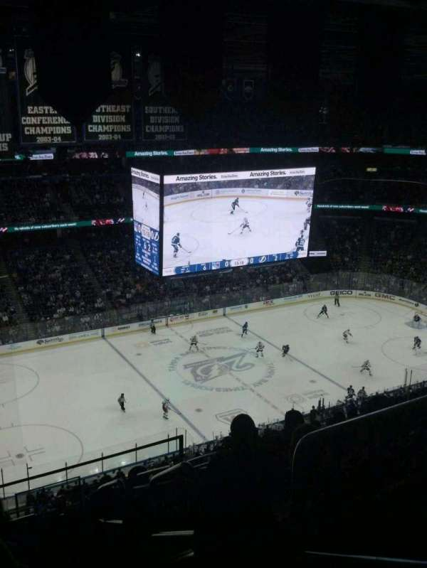 Amalie Arena, section: 303, row: N, seat: 6