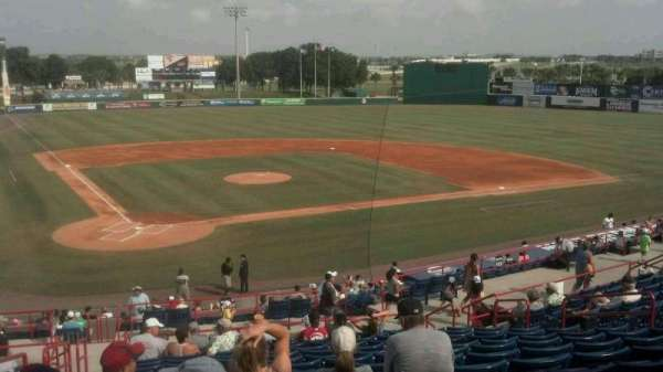 Space Coast Stadium, section: 212, row: C, seat: 1