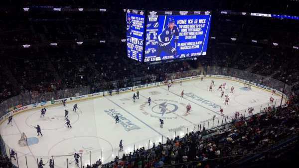 Amalie Arena, section: 319, row: G, seat: 12