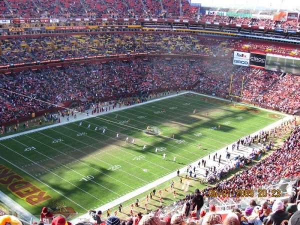FedEx Field, section: 424, row: 29, seat: 30