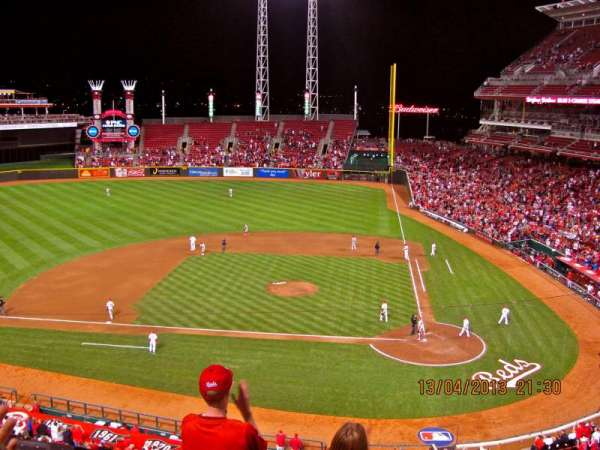 Great American Ball Park, section: 419, row: E, seat: 2