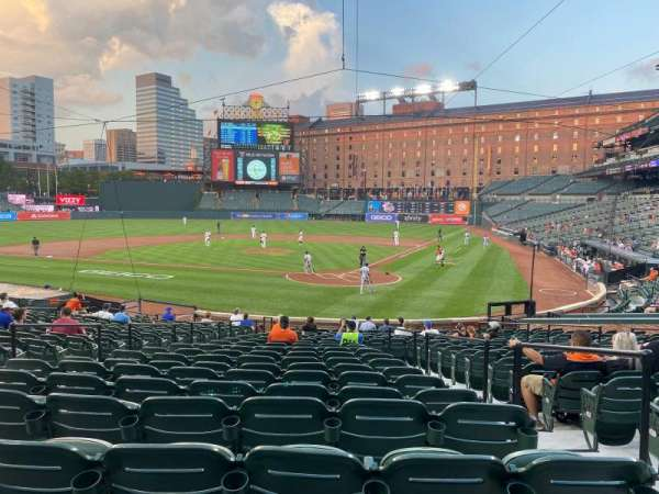 Oriole Park at Camden Yards, section: 42, row: 22, seat: 3