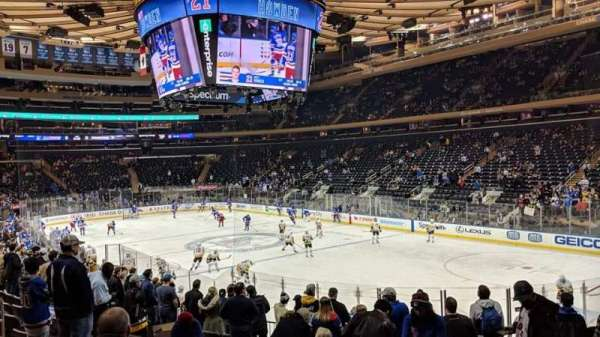 Madison Square Garden, section: 110, row: 15, seat: 13