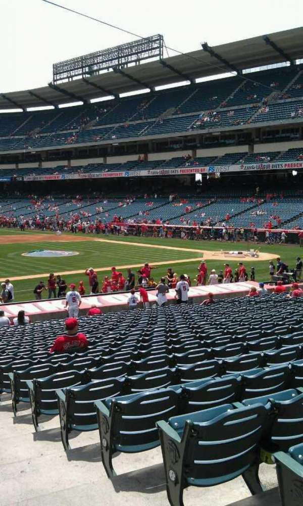 Angel Stadium, section: F110, row: y, seat: 118