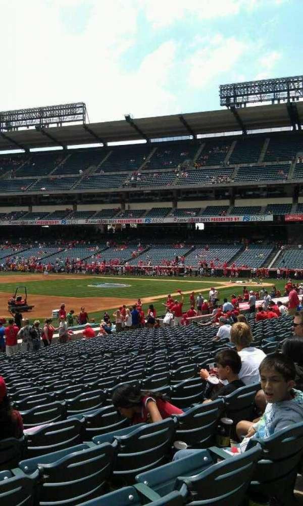Angel Stadium, section: F108, row: w, seat: 3
