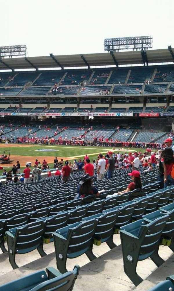 Angel Stadium, section: 107, row: w, seat: 15