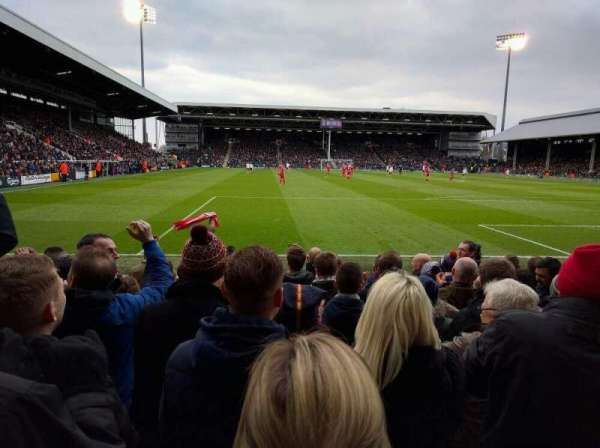Craven Cottage, section: P5, row: I, seat: 110