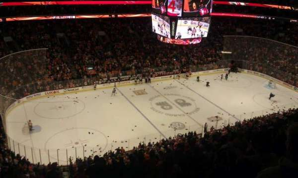 Wells Fargo Center, section: 210A, row: 13, seat: 1