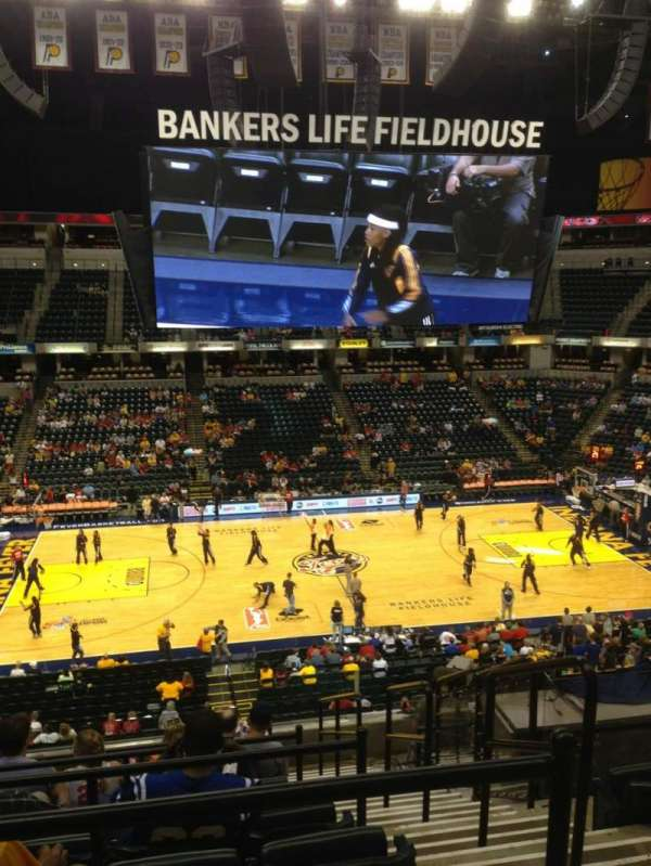 Bankers Life Fieldhouse, section: 118, row: 10, seat: 2