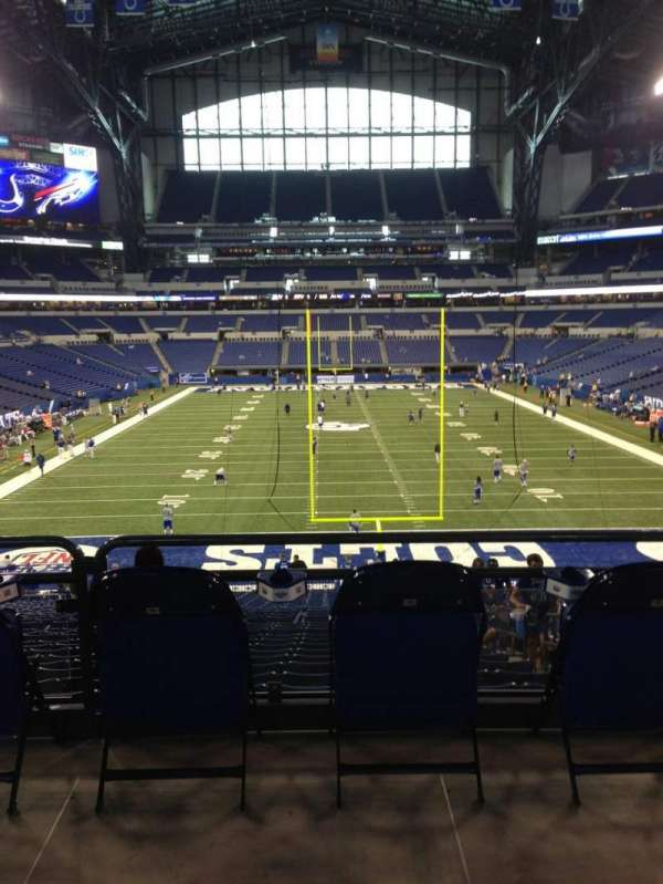 Lucas Oil Stadium, section: 101, row: 34, seat: 1