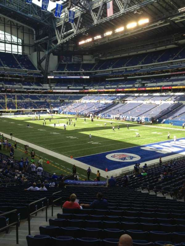 Lucas Oil Stadium, section: 105, row: 29, seat: 10