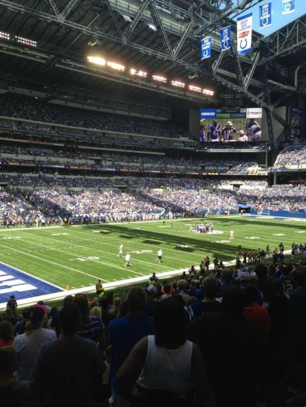 Lucas Oil Stadium, section: 118, row: 25, seat: 14