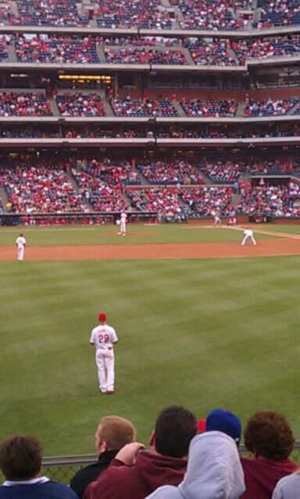 Citizens Bank Park, section: 143, row: 8, seat: 22