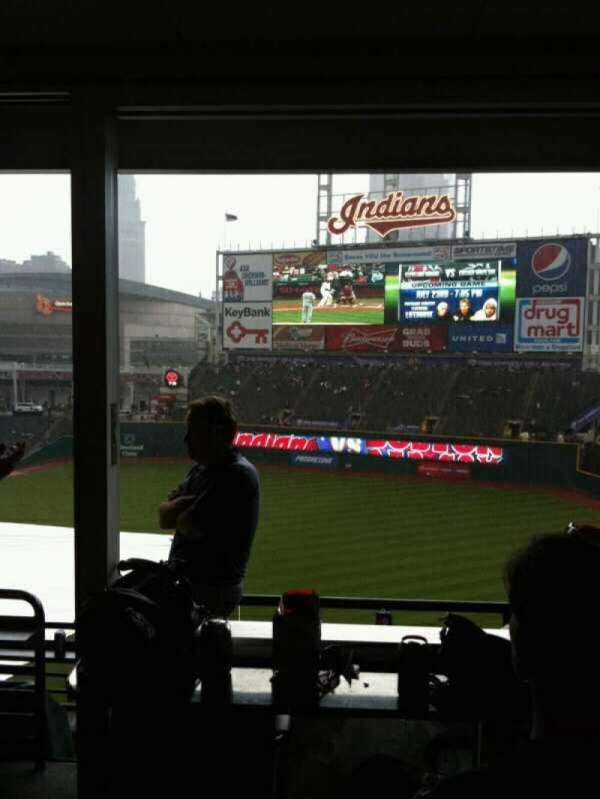 Progressive Field, section: Suite 312, row: A, seat: 1