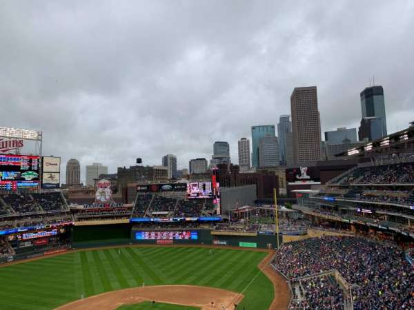 Target Field, section: 316, row: 2, seat: 12